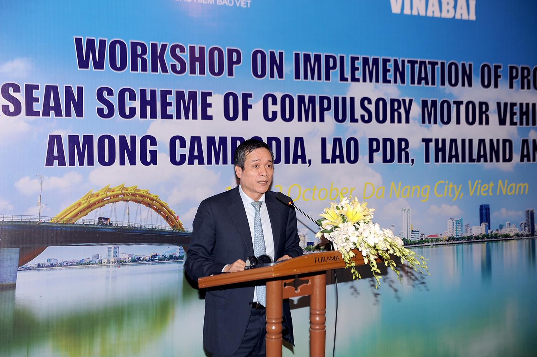 Hội thảo Triển khai Nghị định thư số 5 về Chương trình bảo hiểm bắt buộc xe cơ giới ASEAN giữa Việt Nam, Lào và Campuchia