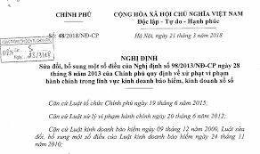 Tóm tắt Nghị định số 48/2018/NĐ-CP