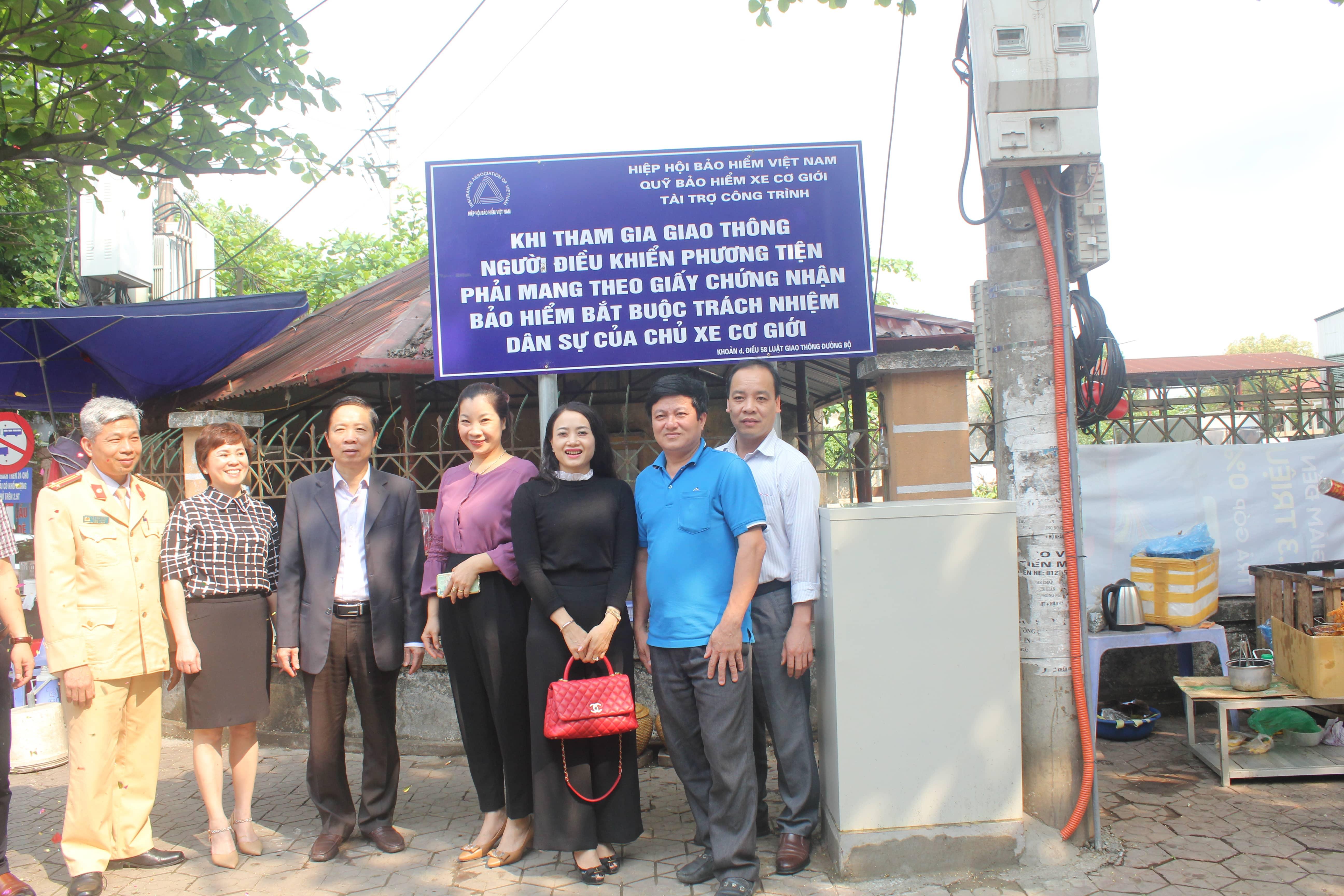 Quỹ bảo hiểm xe cơ giới đóng góp tài trợ công trình đề phòng hạn chế tổn thất giao thông tại TP. Lào Cai