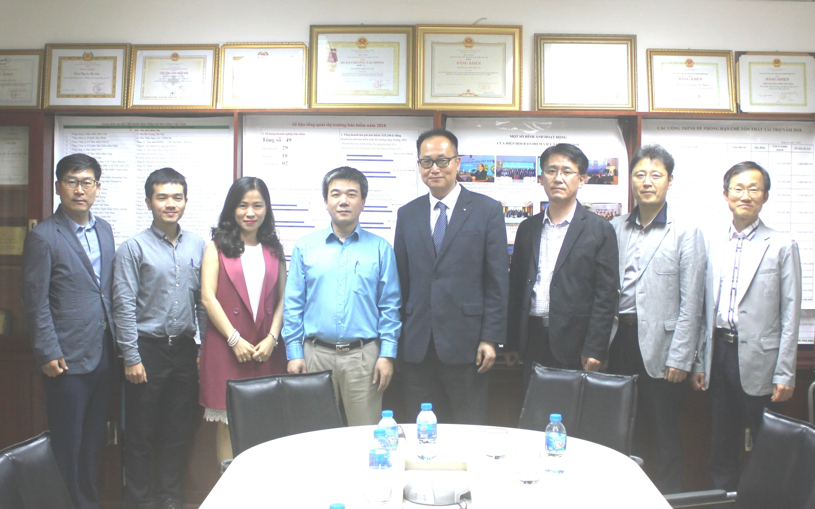 Hiệp hội Bảo hiểm phi nhân thọ Hàn Quốc sang thăm và làm việc với Hiệp hội Bảo hiểm Việt Nam