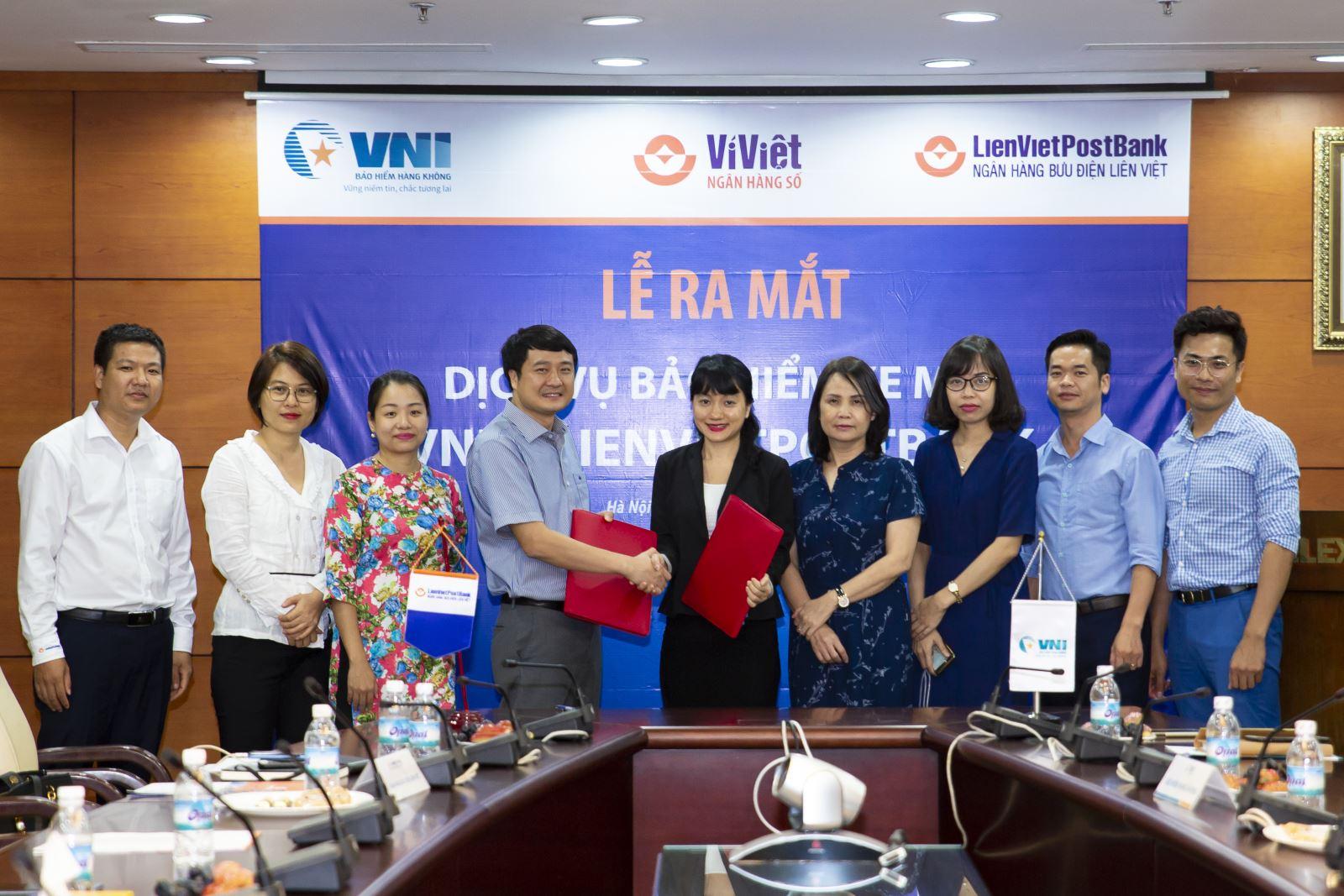 VNI  hợp tác cùng LienVietPostBank cung cấp dịch vụ bảo hiểm xe máy
