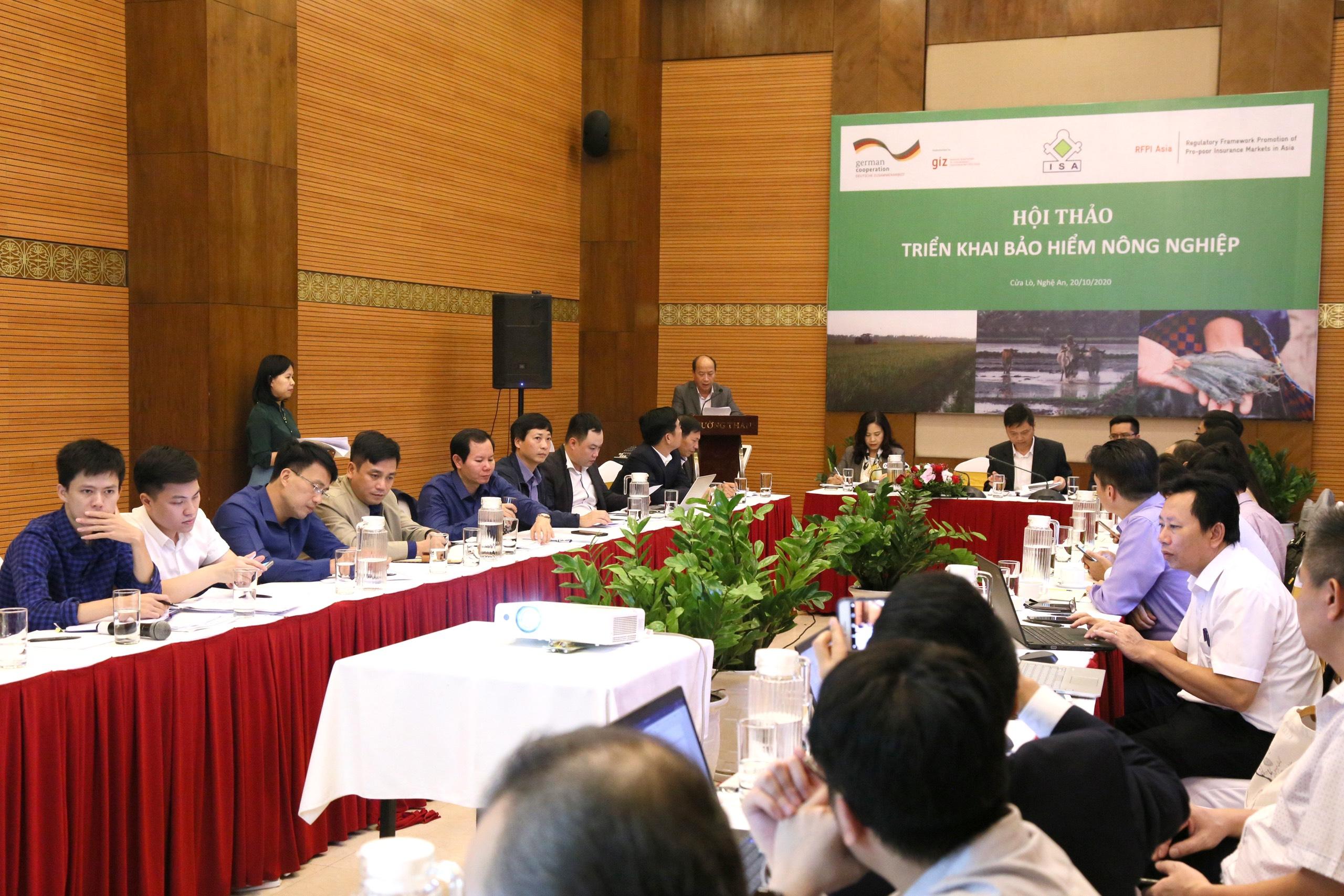 Hội thảo triển khai bảo hiểm nông nghiệp theo Quyết định số 22/QĐ-TTg