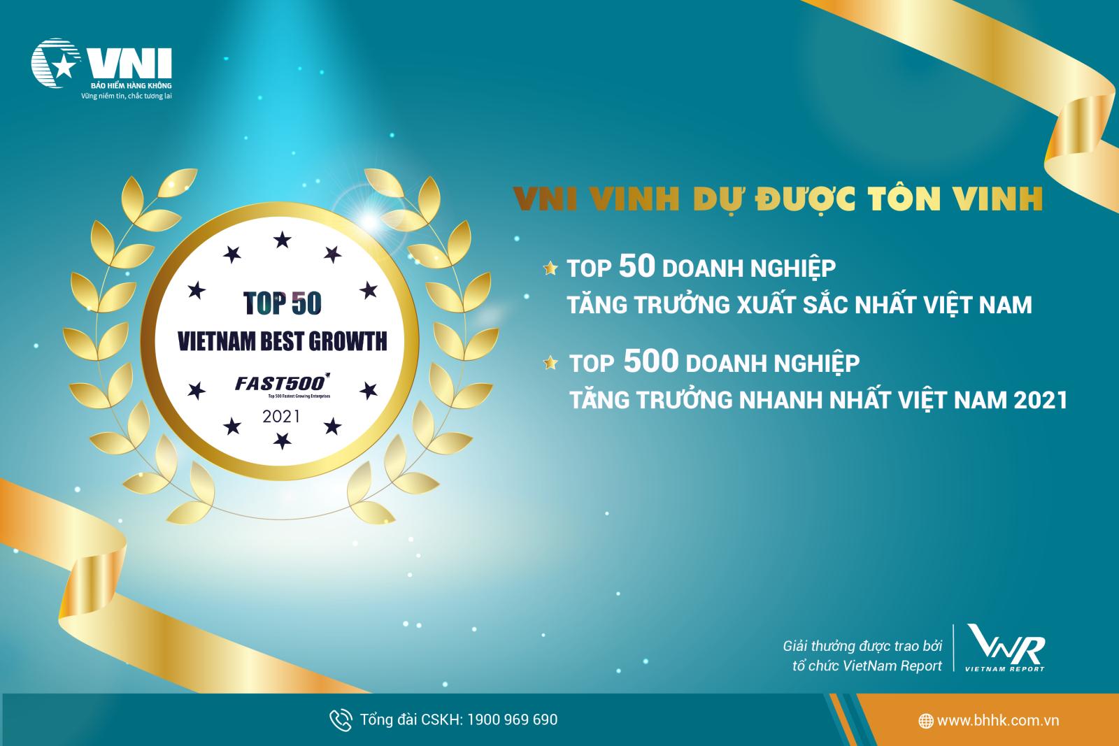 VNI: TOP 50 doanh nghiệp tăng trưởng xuất sắc nhất Việt Nam