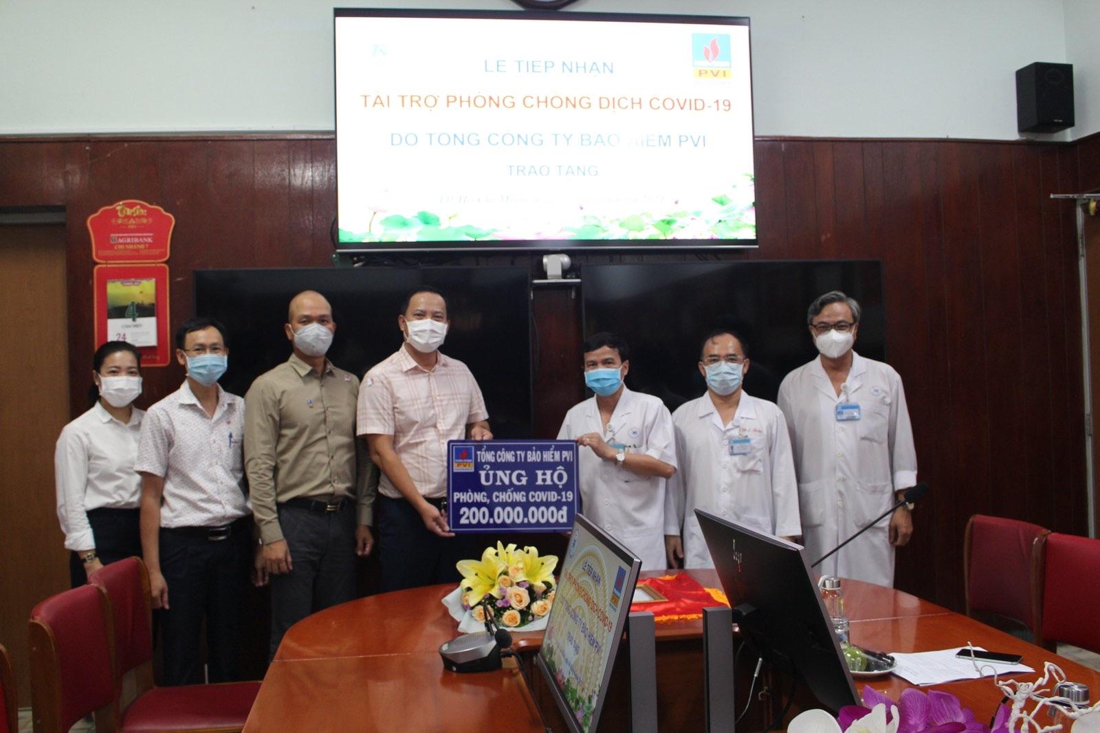 Bảo hiểm PVI ủng hộ chương trình phòng chống Covid-19 tại các bệnh viện và địa phương